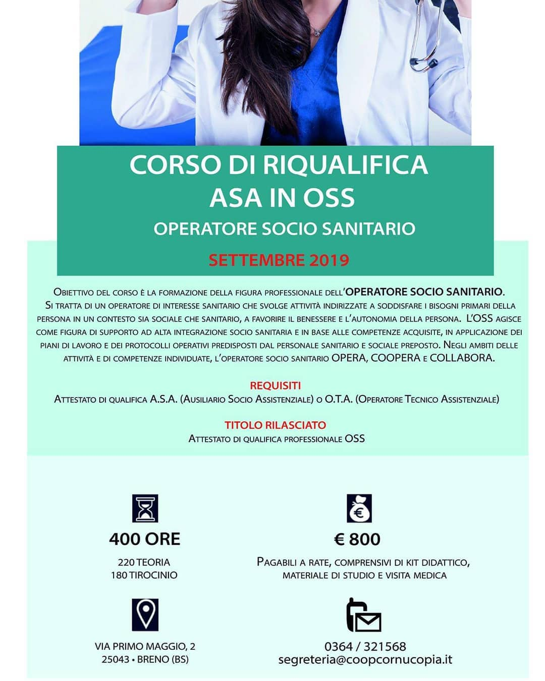 Corso riqualifica a.s.a on o.s.s.